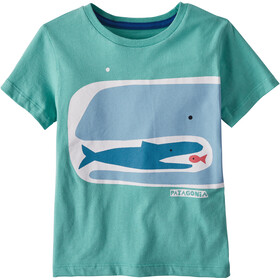 Patagonia Graphic Organic Camiseta Niños, fishy food chain/light beryl green
